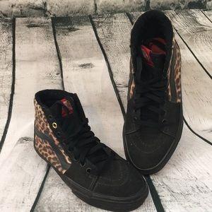 Vans Off The Wall hightop cheetah print shoes